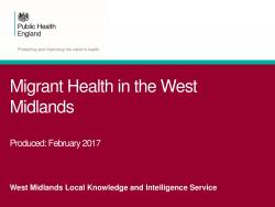 Migrant Health in the West Midlands Data Pack thumbnail
